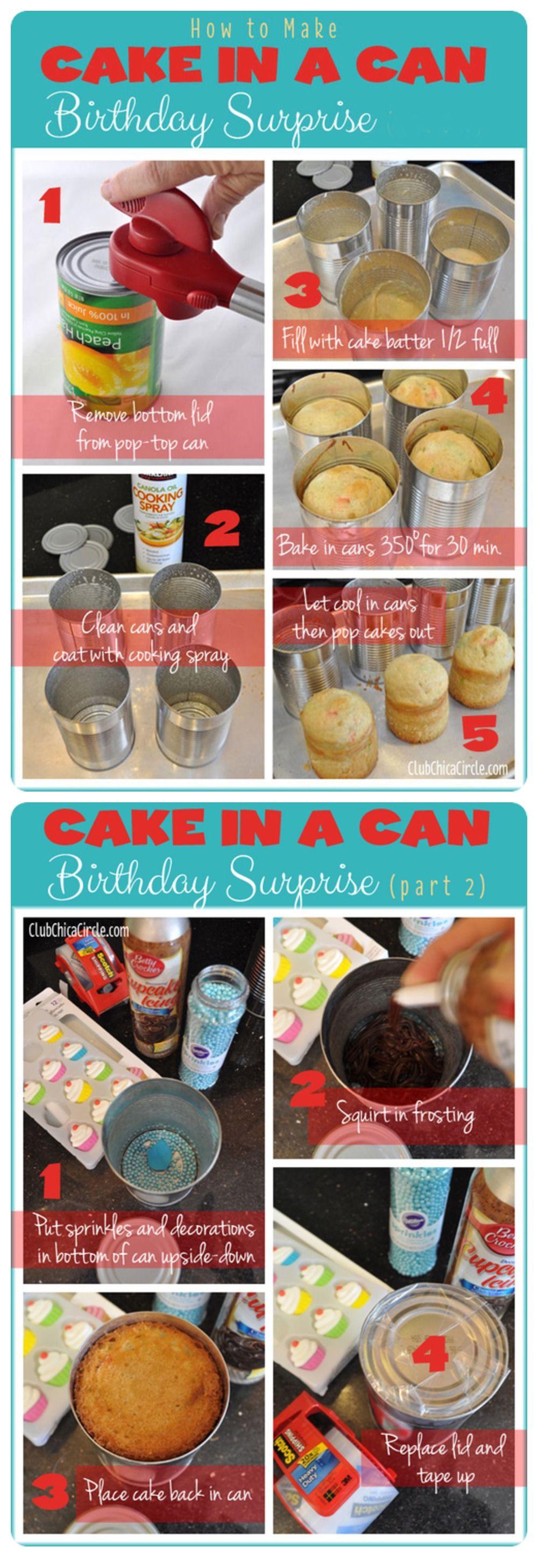 How To Make Cake In A Can Pictures Photos And Images For Facebook