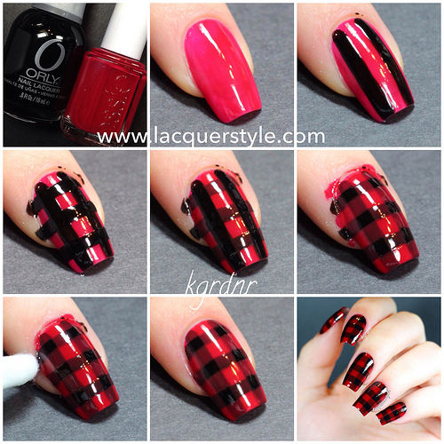 Red And Black Laquered Nail Tutorial Pictures Photos And Images