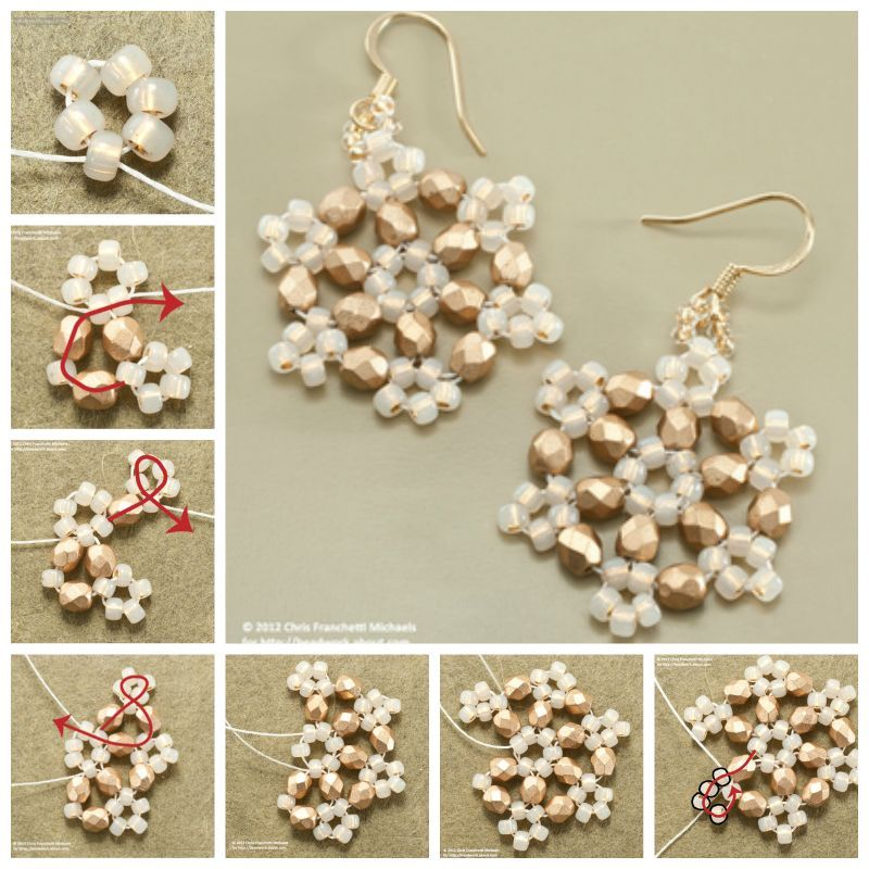 How To Make Beaded Snowflake Earrings Pictures Photos