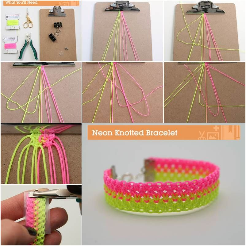 How To Make A Neon Knotted Bracelet Pictures, Photos, and Images ...