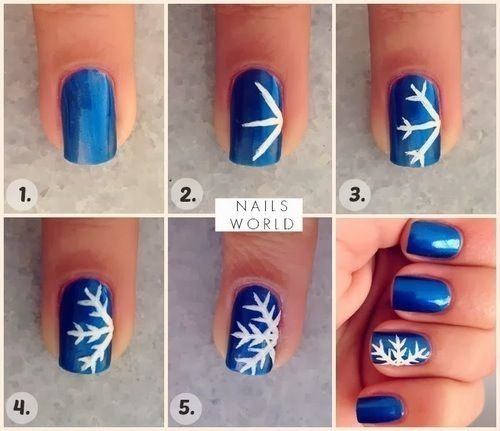 Diy Snowflake Nail Art Pictures Photos And Images For Facebook