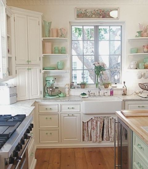 Country Do It Yourself Wedding: Vintage Shabby Chic Kitchen Pictures, Photos, And Images