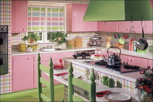 Bright Pink Green Fun Kitchen Pictures Photos And Images For Facebook Tumblr Pinterest And Twitter