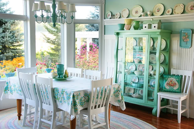 Beautiful Pastel Vintage Dining Room