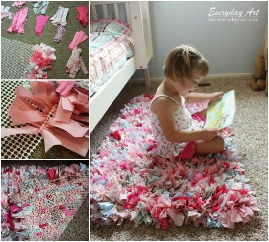 How To Make A Handmade Rag Rug Pictures
