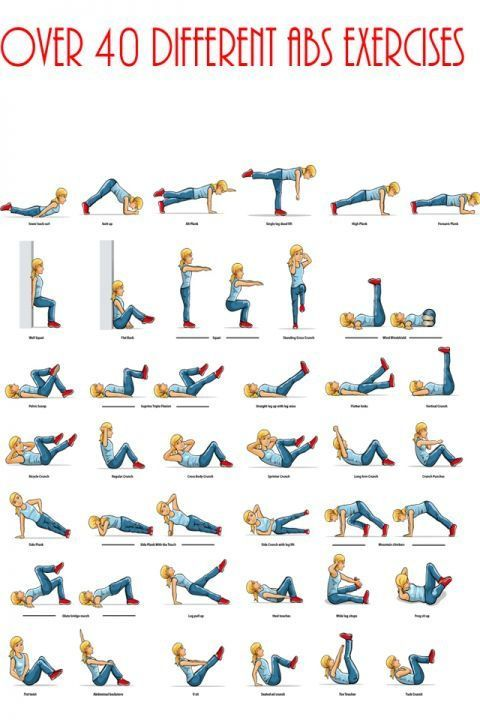 40 Diffe Ab Exercises
