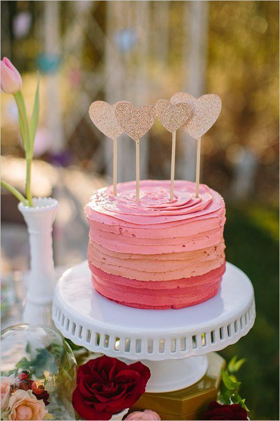 Pretty Pink Valentine Cake
