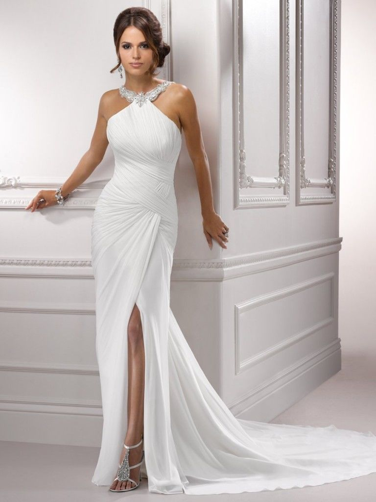 Stunning Satin White Wedding Dress Pictures, Photos, and Images for ...