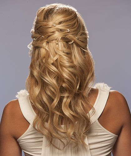 Long Waves With Sides In Updo Twist Wedding Hairstyle Pictures ...