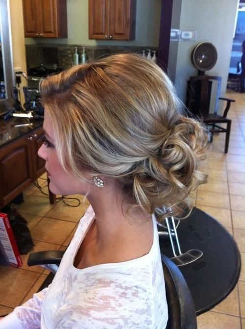 Elegant loose updo wedding hairstyle pictures photos and images elegant loose updo wedding hairstyle junglespirit Image collections