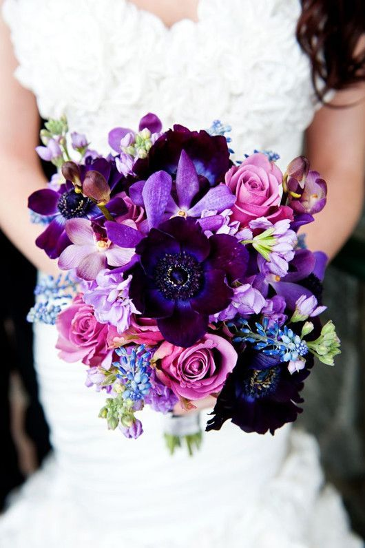 Gorgeous Purple Flower Bouquet Pictures, Photos, and Images for ...