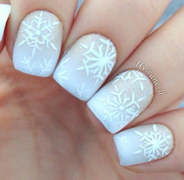Powder White Snowflake Nails Pictures Photos And Images For