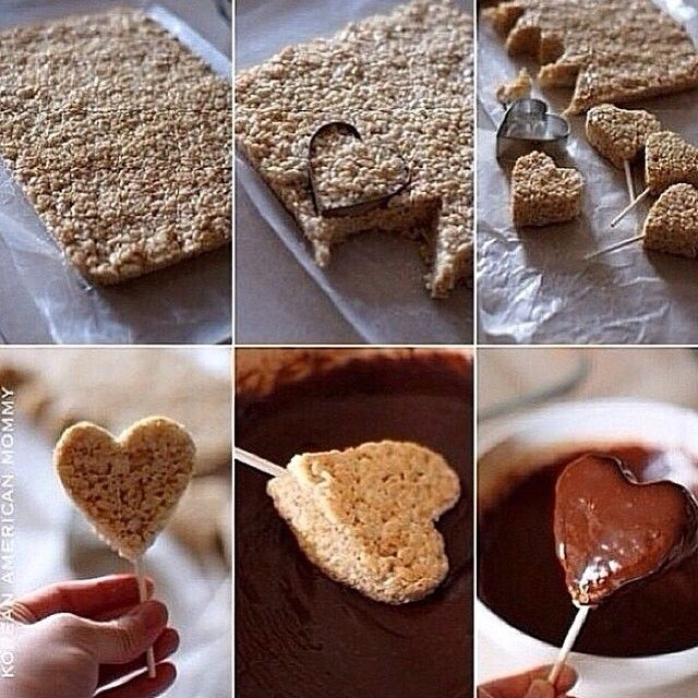 Chocolate Heart Rice Krispie Treats Pictures, Photos, and Images for ...