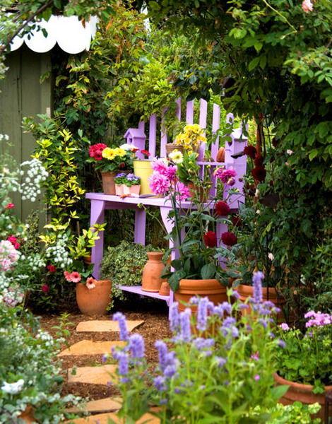 Backyard Pretty Garden: Pretty Purple DIY Potting Bench Pictures, Photos, And