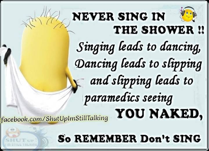 Never Sing In The Shower Pictures, Photos, and Images for ...