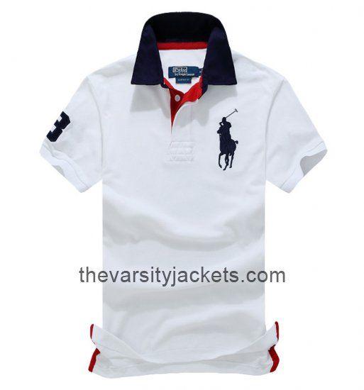Mens Ralph Lauren WhiteRedBlack Polo T-shirts Online Store
