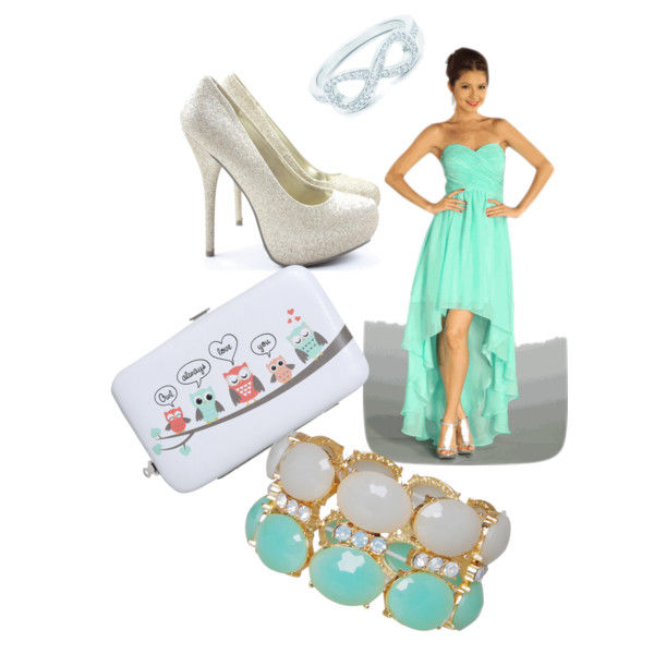 Mint Green Strapless Maxi Dress With Accessories Pictures, Photos ...