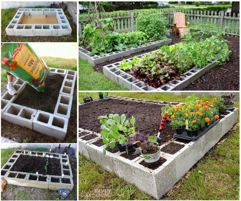 Diy raised garden bed pictures photos and images for for Bordure fenetre beton