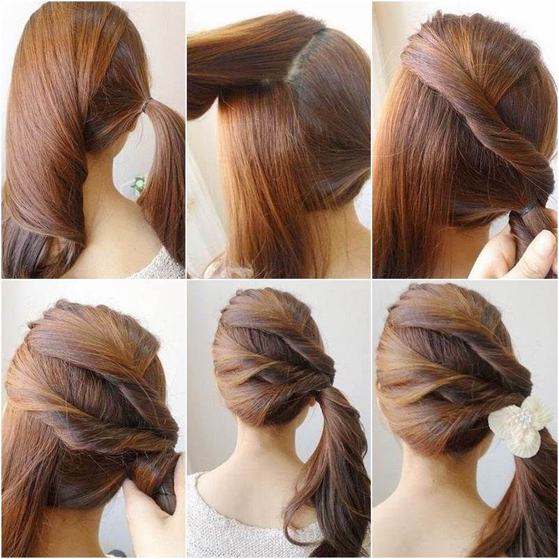How To Make A Twisted Side Ponytail Pictures Photos And Images For