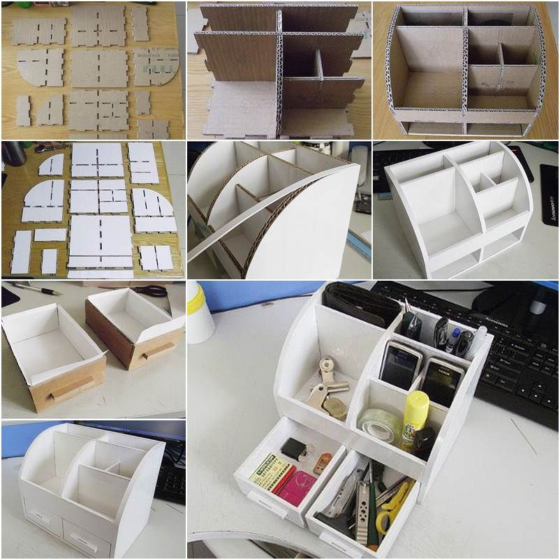 Making a cardboard desktop organizer pictures photos and for Schrank ordnung