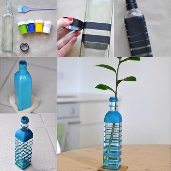 Making a vase from recycled glass bottles pictures photos - How to recycle glass bottles ...