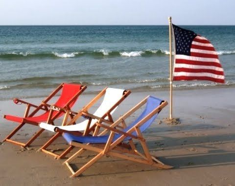 Red White And Blue Beach Chairs