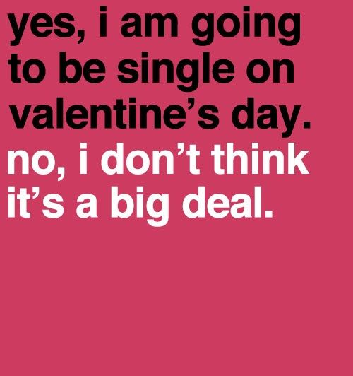 Single on valentine s day quotes