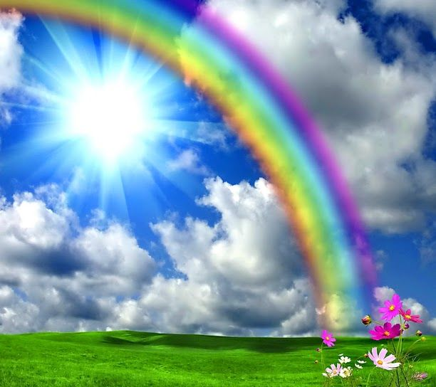 beautiful spring desktop wallpaper rainbow - photo #33