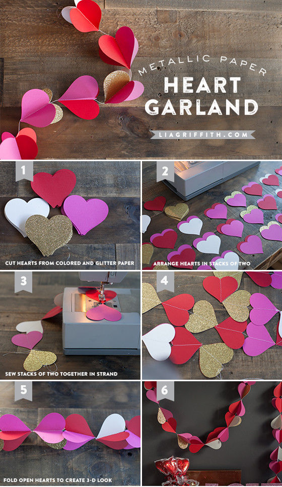 DIY Heart Garland Pictures, Photos, and Images for