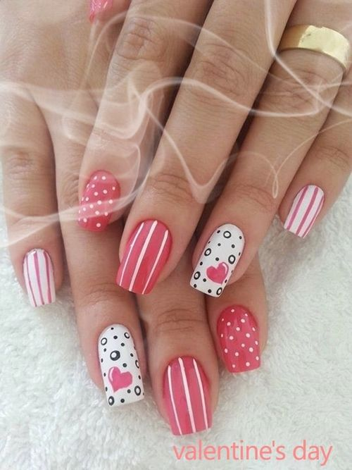 Pretty Nails For Valentine S Day