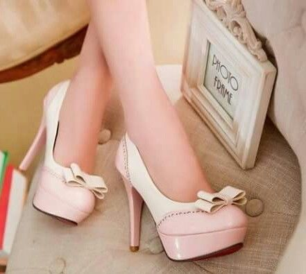 cf8aecbfc4e4 Pink   White Pumps With Bows Pictures
