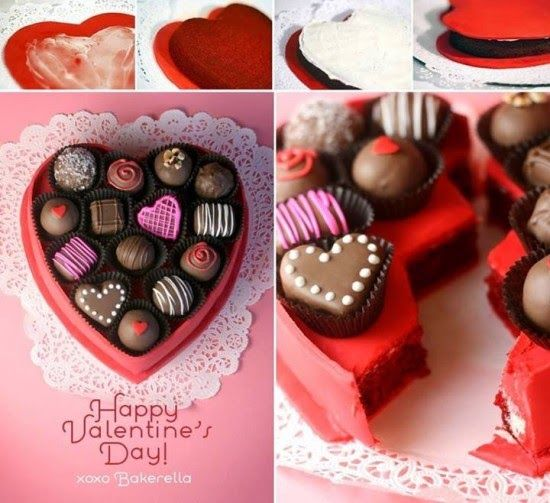 How To Make A Valentines Day Gift Box Cake