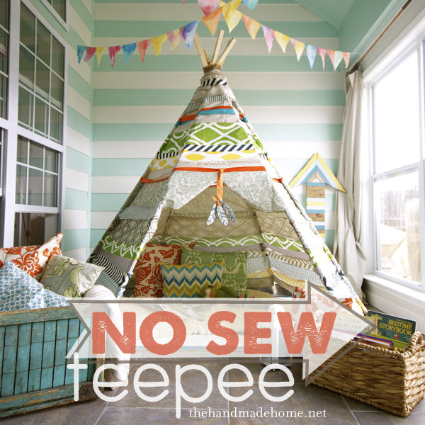 How To Make A No Sew Teepee Pictures, Photos, and Images for Facebook, Tumblr