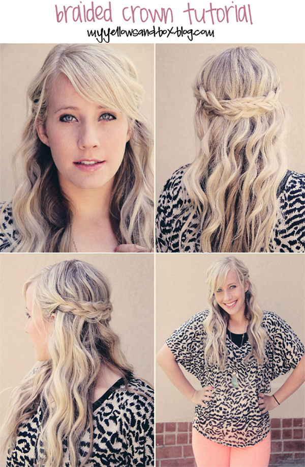 DIY Braided Crown Braid Pictures Photos And Images For Facebook - Braid diy pinterest