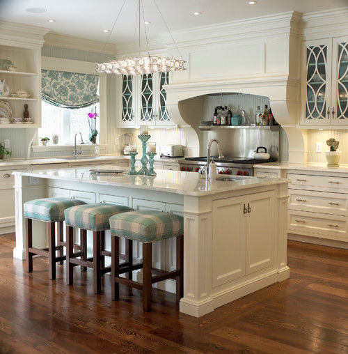 Beautiful Bright Blue White Kitchen Pictures Photos and Images