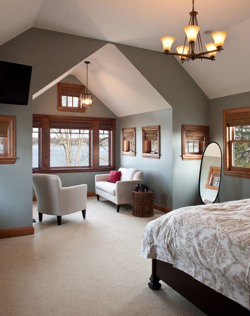 Master Bedroom With An Alcove Sitting Area Pictures