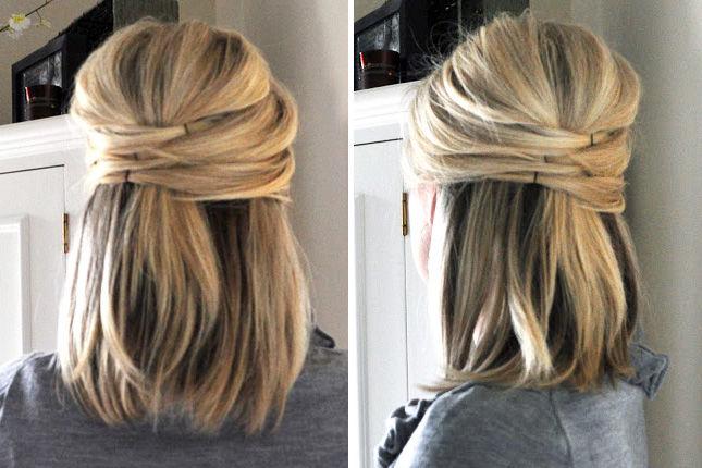 Прическа с локонами на короткие волосы своими руками