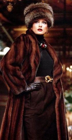 Brown Outfit With Fur Coat And Hat Pictures, Photos, and Images ...