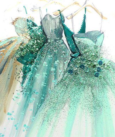 Evening dress illustration