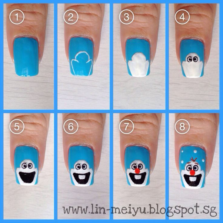 DIY Olaf Nails Pictures, Photos, and Images for Facebook, Tumblr ...