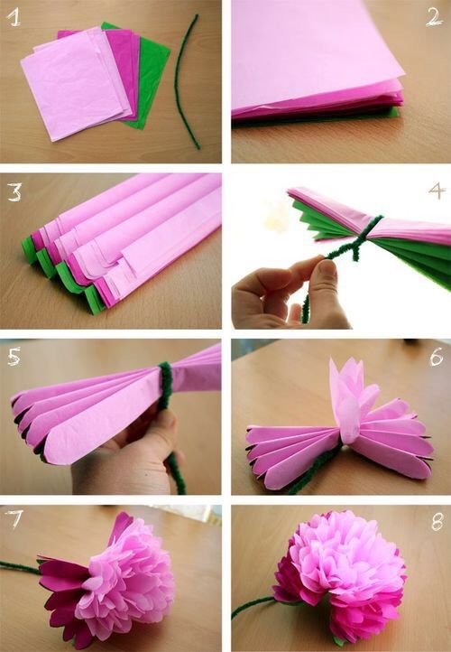 diy tissue paper flowers pictures photos and images for facebook tumblr pinterest and twitter. Black Bedroom Furniture Sets. Home Design Ideas
