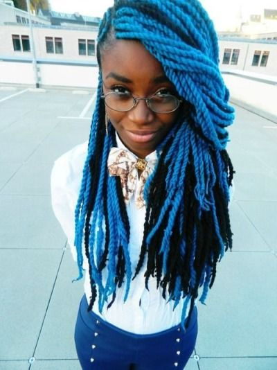 Blue And Black Twist Braids Pictures, Photos, and Images for Facebook ...
