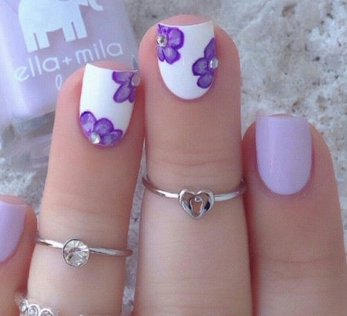 Lilac floral nail art - Lilac Floral Nail Art Pictures, Photos, And Images For Facebook