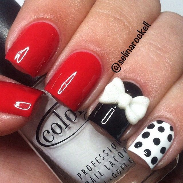 Red White Andd Black Acrylic Nail Pictures Photos And Images For
