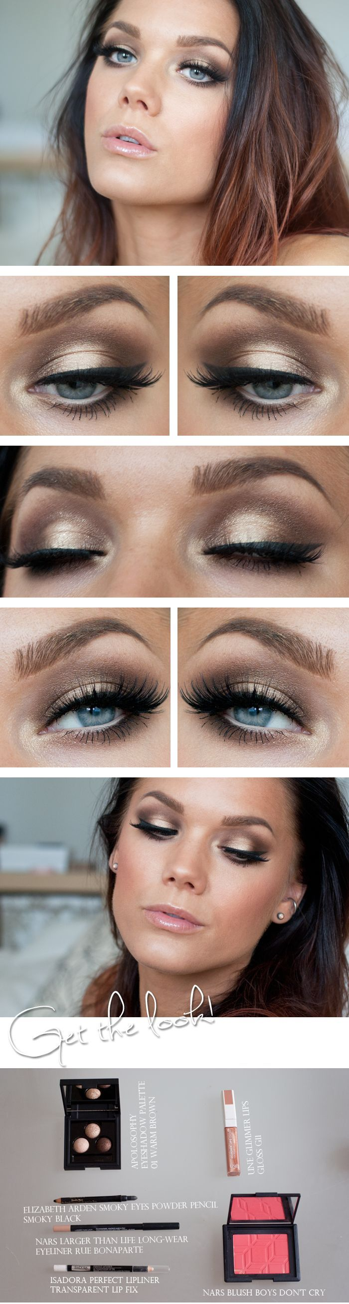 Gold eye makeup tutorial
