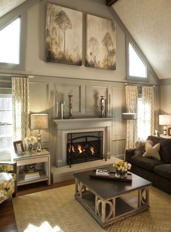 Beautiful living room pictures photos and images for for How to paint a vaulted ceiling room