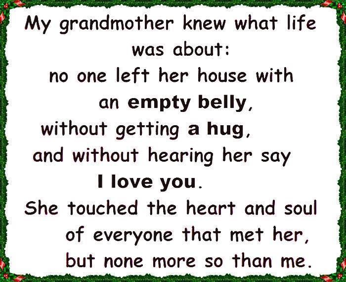 for my grandmother