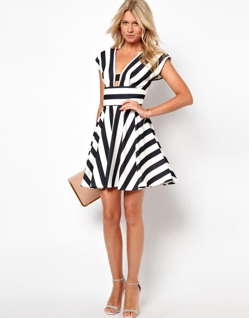 Black And White Striped Dresses