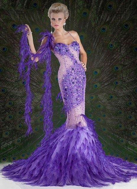 Purple peacock gown pictures photos and images for facebook tumblr