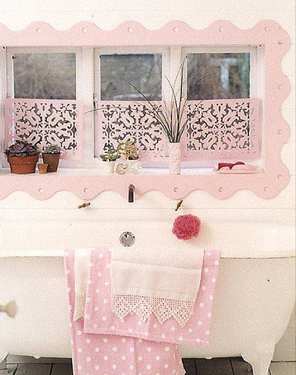 Pretty Pink Shabby Chic Bathroom Pictures Photos And